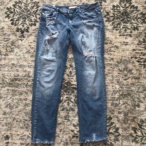 KanCan raw cut jeans